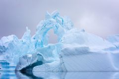 Ice Formation in Antarctica. Just beyond the Gerlache Straits is Royalty Free Stock Images
