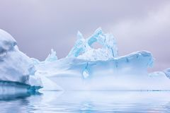 Ice Formation in Antarctica. Just beyond the Gerlache Straits is. Where this Ice Garden exists stock photos