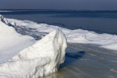 Ice formation. Ice formation at Baltic sea coast in winter Stock Images