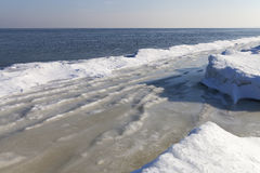 Ice formation. Ice formation at Baltic sea coast in winter Royalty Free Stock Photography