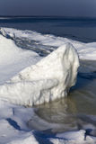 Ice formation. Ice formation at Baltic sea coast in winter Stock Image