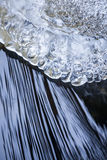 Ice formation and flowing water Stock Photos