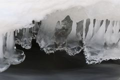 Ice formation Norway Royalty Free Stock Image