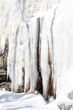 Ice formations on cliff-side Stock Photography
