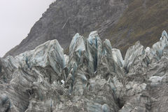 Ice Formations on Face of Glacier Royalty Free Stock Photography