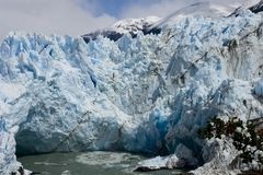 Ice formations glacier Perito Moreno is awesome Stock Photo
