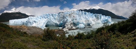 Ice formations glacier Perito Moreno is awesome Royalty Free Stock Image