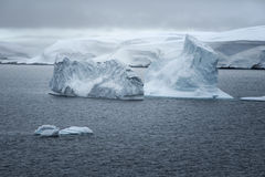 Ice Formations And Landscape In The Neumayer Channel, Antarctica Royalty Free Stock Images