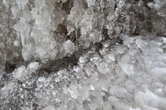 Ice Formations. From a waterfall Stock Image