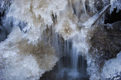 Ice formations on waterfall Stock Images