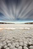 Ice forming on Lake Royalty Free Stock Photos