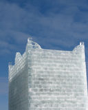 Ice fort. A fort made from ice blocks against a blue sky Stock Images