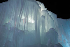 Ice fortress. Walls of the Ice Castle in Silverthorne royalty free stock photos