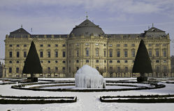 Ice Fountain at the Residenz zu Wuerzburg Stock Photography