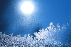 Ice frost window Royalty Free Stock Image