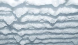 Ice frozen in refrigerator Royalty Free Stock Image