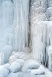 Ice, Frozen at waterfall cascade in mountain Mecsek Stock Photography