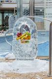 Ice fruit basket Stock Photo