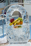 Ice fruit basket Royalty Free Stock Photo