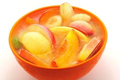 Ice fruits in bowl Stock Photos