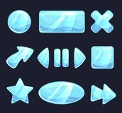 Ice game buttons royalty free illustration