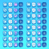 Ice game icons buttons icons, interface, ui Stock Image