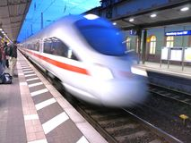 ICE. Germany high-speed railway train (ICE) arriving Naumburg, Germany Stock Images