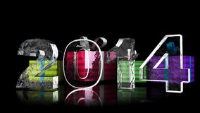Ice 2014 and Gift. In 3D Stock Photo