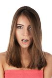 Ice girl. Beautiful girl hold ice cube in mouth and eat it Royalty Free Stock Photography