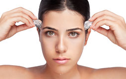 Ice on Girl Face Royalty Free Stock Photos
