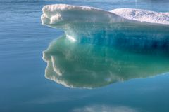 Ice in glacial lake Royalty Free Stock Photography