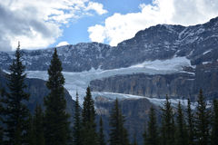 Ice glacier formation in the Rocky Mountain. Ice glacier formation  in the Rocky Mountains Royalty Free Stock Photography