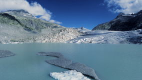 Ice glacier lake landscape melting ice global warming climate change stock video