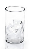 Ice in glass. Ice in a glass on white Royalty Free Stock Image