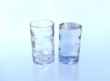 Ice glass royalty free stock photography