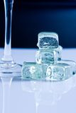 Ice and glass Royalty Free Stock Photos