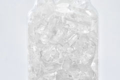 Ice  in Glass Bowl Royalty Free Stock Photo