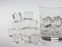 Ice in a glass Stock Photos