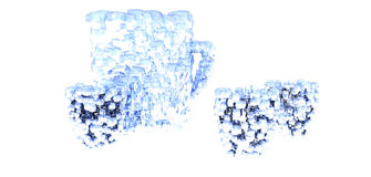 Ice Glasses and Pitcher Stock Images