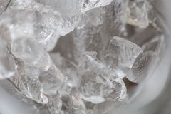 Ice on a glass texture in detail Stock Photography