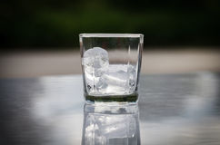 Ice in glass Stock Images
