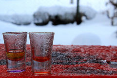 Ice glasses Royalty Free Stock Photography