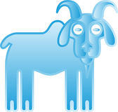Ice goat. Royalty Free Stock Photos
