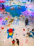 "Ice graffiti on children`s day. Graffiti"" in English is ""GRAFFITI"". It is a visual font design art. There are many graffiti contents: mainly in royalty free stock photography"
