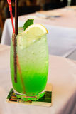 Ice green lime soda beverage Royalty Free Stock Photo