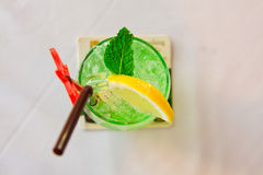 Ice green lime soda beverage Royalty Free Stock Photography