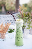Ice Green tea for drink Royalty Free Stock Photo