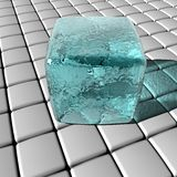 Ice on grid Stock Photo