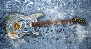Ice guitar Stock Image