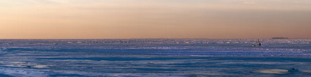 Ice of the Gulf of Finland Royalty Free Stock Photo